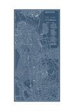 Graphic Map of Boston Poster autor Vision Studio