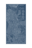 Graphic Map of Boston Print by  Vision Studio