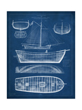 Antique Ship Blueprint II Stampa di  Vision Studio