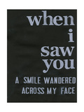When I Saw You... II Posters by Deborah Velasquez
