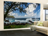 Waves Crashing Upon Rocks, Laupahoehoe Park, Hawaii, USA Wall Mural – Large by  Jaynes Gallery