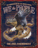 We The People - 2nd Amendment Tin Sign Tin Sign