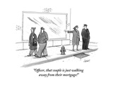 """Officer, that couple is just walking away from their mortgage!"" - New Yorker Cartoon Premium Giclee Print by Tom Cheney"