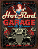 Hot Rod Garage - Pistons Tin Sign Tin Sign