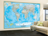 Spanish Classic World Map Wall Mural – Large