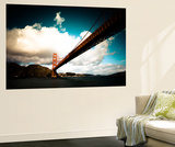 Heavy Clouds over the Golden Gate Bridge, Seen from Below Wall Mural by Sergio Pitamitz