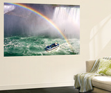 The Maid of the Mist Tourist Boat Under a Double Rainbow at Niagara Falls Wall Mural by Charles Kogod
