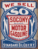 Socony Gasoline Tin Sign Tin Sign