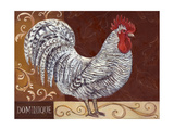 Rustic Roosters I Prints by Theresa Kasun