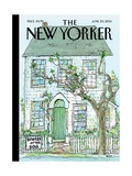 Beware of the Dog - The New Yorker Cover, June 23, 2014 Regular Giclee Print by George Booth