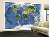 2011 World Explorer Satellite Map Wall Mural – Large