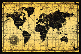 World Map-Old Style Posters