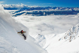 Snowboarder-Powder Turn Affiche