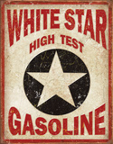 White Star Gasoline Tin Sign Tin Sign