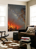 The Milky Way Shines As the Glow of Lava Light Reflects in the Sky Wall Mural by Steve And Donna O'Meara