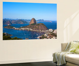 Aerial View Of Botafogo And The Sugar Loaf In Rio De Janeiro Brazil Wall Mural by  OSTILL