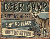 JQ - Deer Camp Tin Sign Tin Sign