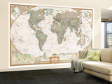 French Executive World Map Fototapete – groß von  National Geographic Maps