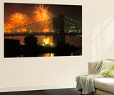4th of July, Brooklyn Bridge, New York, USA Wall Mural by Peter Bennett