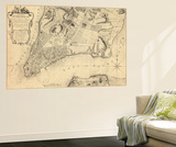 1776, New York City From 1767 Survey, New York, United States Wall Mural