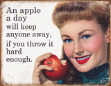 Ephemera - Apple a Day Tin Sign Placa de lata