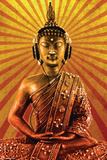 Mcfly-Buddha Wearing Headphone Prints