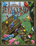 Welcome - Place for the Birds Tin Sign Tin Sign
