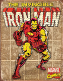 Iron Man - Retro Panels Tin Sign Tin Sign