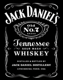 Jack Daniel's Black Logo Tin Sign Placa de lata