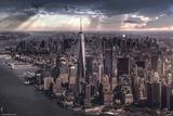 New York-City Under Storm Poster