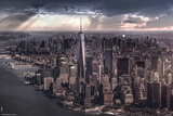 New York-City Under Storm Poster