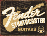 Fender Stratocaster 60th Tin Sign Cartel de chapa