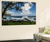 Waves Crashing Upon Rocks, Laupahoehoe Park, Hawaii, USA Wall Mural by  Jaynes Gallery