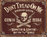 Don't Tread On Me - Gun for Hire Tin Sign Tin Sign