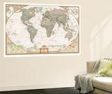 German Executive World Map Wall Mural