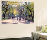 The Mall, Central Park, Manhattan, New York, USA Wall Mural by Peter Bennett