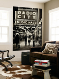 Urban Scene, Radio City Music Hall by Night, Manhattan, Times Square, New York, White Frame Wall Mural by Philippe Hugonnard