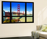 Window View, Special Series, Golden Gate Bridge, San Francisco, California, United States Wall Mural by Philippe Hugonnard