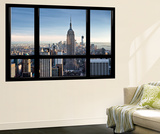 Window View, Special Series, Empire State Building, Manhattan, New York, United States Wall Mural by Philippe Hugonnard