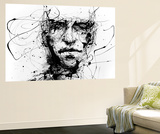 Lines Hold The Memories Wall Mural by Agnes Cecile