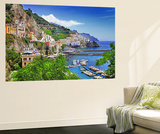 Travel In Italy Series - View Of Beautiful Amalfi Wall Mural by  Maugli-l