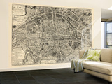 France, Paris, Vintage Map Wall Mural – Large