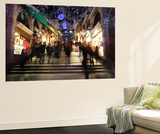 Shops Under An Artificially Lit Starry Sky on the Rialto Bridge Wall Mural by Joe Petersburger