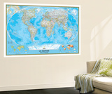 French Classic World Map Vægplakat