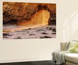 Golden Ocean Door II Wall Mural by Vincent James