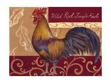 Rustic Roosters II Art by Theresa Kasun