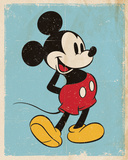 Mickey Mouse - Retro Pósters