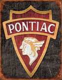 1930 Pontiac Logo Tin Sign Tin Sign