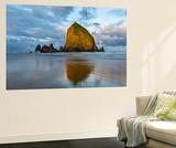 Haystack Rock at Dawn, Cannon Beach, Oregon, USA Wall Mural by Chuck Haney