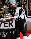 LA Kings Justin Williams with the Conn Smthye Trophy Game 5 of the 2014 Stanley Cup Finals Photo